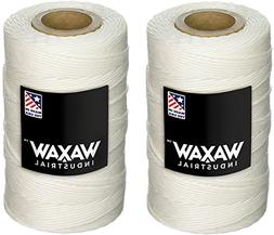 Waxed 100% Polyester White Twine/Cord | 1,005 feet  | 9-ply