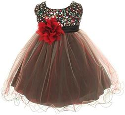 Baby Girls Toddler Multi Sequins Tulle Special Occasion Infa