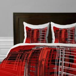 Deny Designs  Aimee St Hill Phone Box Duvet Cover, Queen
