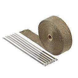 HM&FC Double Thickness Titanium Exhaust Wrap with Size 0.12
