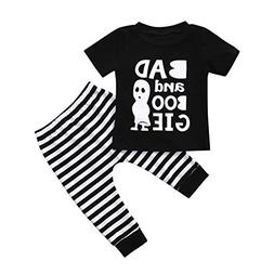 Hatoys 2PCS Halloween Outfit Sets Toddler Newborn Baby Boys