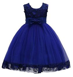 KISSOURBABY Girls Wedding Pageant Party Ruffles Dresses Baby