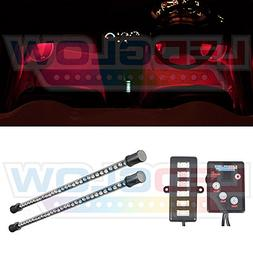 LEDGlow 2pc Red LED Expandable Interior Underdash Footwell S