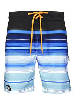 Laguna Mens Stretch Boardshort Swim Trunks Bathing Suits Blu