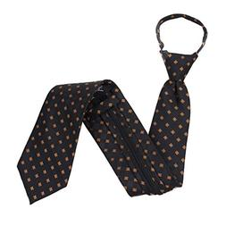 Long XL Zipper Ties for Men Pre-made knot Black and Gray Ext