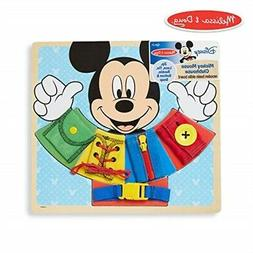Melissa & Doug Mickey Mouse Wooden Basic Skills Board - Zip,