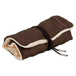 Pack of 5; Dark Brown with Ivory Trim Jewelry Roll