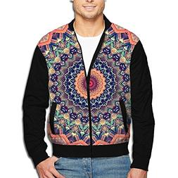 SCOOLY Tie Die Floral Mandala Youth Long Sleeve Full Zip Jac