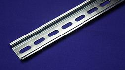 Slotted Design Steel DIN Mounting Rail- 1m Length x 35mm Wid