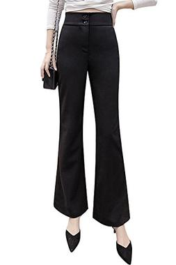 Smibra Womens Casual Solid Comfortable Fit Tummy Control Hig