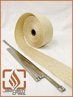Tan Natural High Temperature Header Exhaust Pipe Insulation