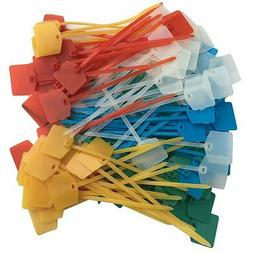 Acite 100 PCS 5 Inches Nylon Marker Cable Ties Self-Locking