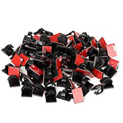 GWHOLE 100Pcs 3M Adhesive Cable Clips Cord Organizer Wire Ma