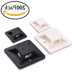 Honyear 200 Pack Adhesive Cable Tie Mounts tough, resilient,