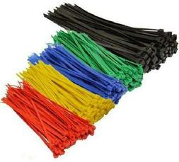 Topzone& Assorted Color Nylon Cable Zip Ties Self Locking