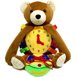 """BUCKLE TOY """"Billy"""" Backpack Bear – Toddler Life Skills"""