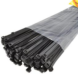 Kenable Black Cable Ties 400mm x 4.7mm Nylon 66 UL Approved