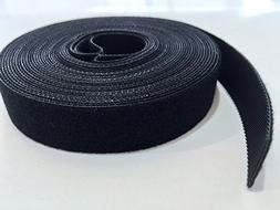 AIRNIX 3/4 in x 20 ft Black Nylon Cable Tie Roll, Double Sid
