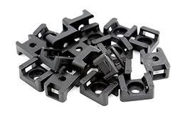 iExcell 100 Pcs Black 9.0mm Width Cable Tie Base Saddle Type