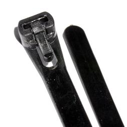 Kenable Black Reusable Cable Ties 200mm x 7mm 8 Inch Pack of