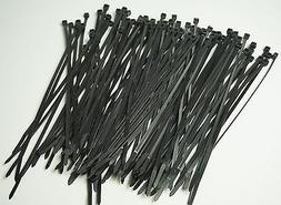 "Black Ty Wraps 250 PC. 8"" Long UV Cable Zip Ties 50lbs Heavy"