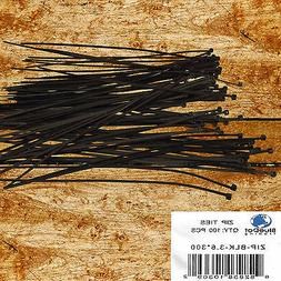 BlueDot Trading 3.6x300 Black Zip ties, 100 pack