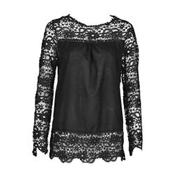 UONQD Woman Blouse Black Design White Blouses Women Ladies O