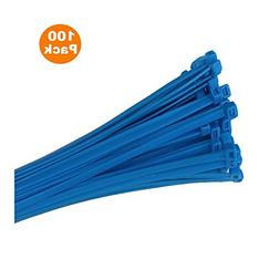 100 x Blue Nylon Cable Ties 100 x 2.5mm / Extra Strong Zip T