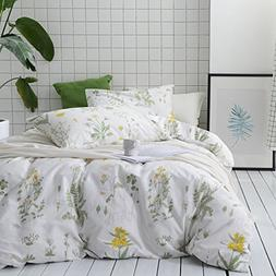 Wake In Cloud - Botanical Duvet Cover Set, 100% Cotton Beddi