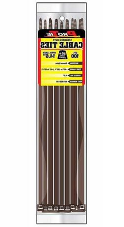 Pro Tie BR14SD100 14.6-Inch Brown Standard Duty Color Cable