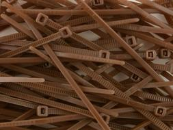 4 Inch Brown Miniature Nylon Cable Tie - 500 Pack