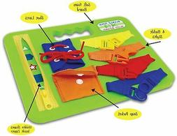 BUCKLE TOY BUSY BOARD - Learn to Snap, Zip, Tie Shoe Laces a