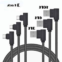 Type C Cable, KinPond  1M/2M/3M Left Right 90 Degree Angle U