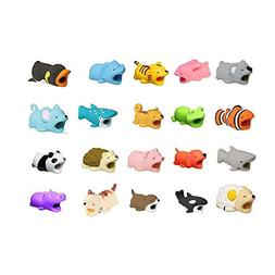 20pcs Cable Bite for iPhone Cable Cord Animal Phone Accessor