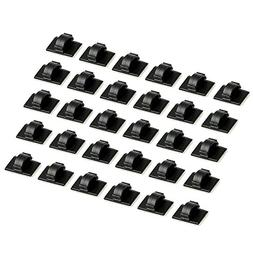 Proster Cable Clips 30 PCS Self-adhesive Cable Ties Plastic