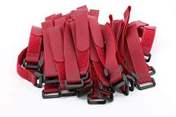 Pasow 25 Pcs 8-Inch Cable Ties with plastic buckle Reusable