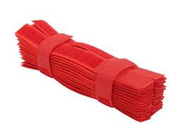 Cable Ties 50pcs Hook and Loop Wraps Reusable Fastening Cabl