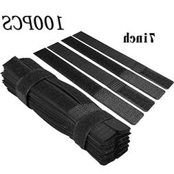 Cable Ties, 100pcs Reusable Fastening Wire Cable Ties Straps