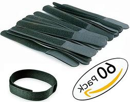 60Pack -8 Inch Cable Ties Reusable Fastening Wire Organizer