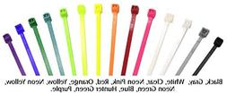 """NELCO, General Purpose Cable Ties, Neon Pink, 4""""L x .09""""W, M"""