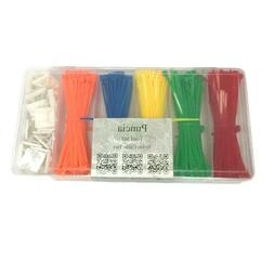 Cable Ties Zip Ties 400 Piece with 25 3M Mounts 4 Inches