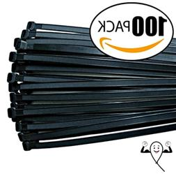 Cable ties 18 inch,Thick Premium Heavy Duty. 100 Piece Value