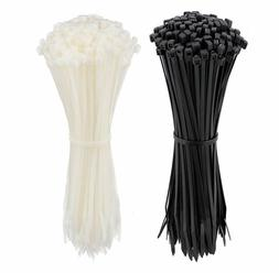 Cable Zip Ties 8 Inch, Ultra Strong Plastic Wire Ties, 200 P
