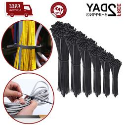 Cable Zip Ties Self Locking For Office Garage Assorted Lengt