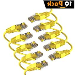 Maximm Cat6 Snagless Ethernet Cable - 4 Feet - Yellow -  - P