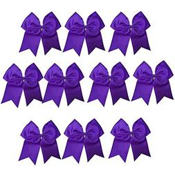 CN Girls Cheer Bow with Ponytail Holder for Cheerleading Gir
