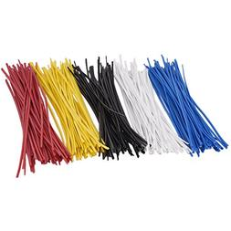 Sunmns 250 Piece Colorful Metallic Twist Cable Cord Wire Tie