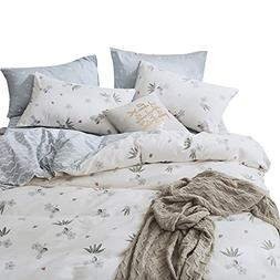VM VOUGEMARKET 100% Cotton Girls Duvet Cover Set Floral Patt