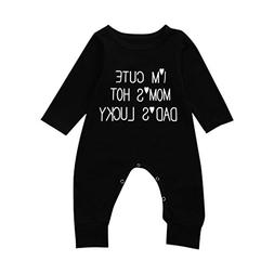Hatoys Cute Newborn Toddler Baby Boys Girls Letter Jumpsuit