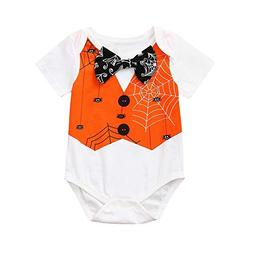 Cute Toddler Baby Girls Boy Clothes Short Sleeve Romper Jump